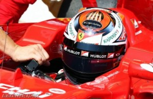Kimi Raikkonen paying tribute to Jules Bianchi with an addition to his helmet.
