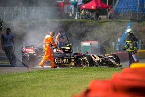 A disappointing weekend for Lotus' Pastor Maldonado.