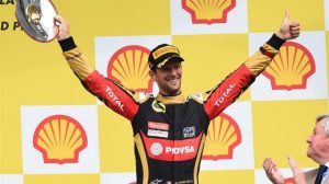 Grosjean came home with an impressive third for Lotus.