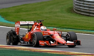 An abrupt end to a potential third place for Sebastian Vettel.
