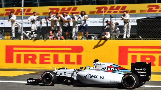 Massa came home with a pleasing third place on the podium.