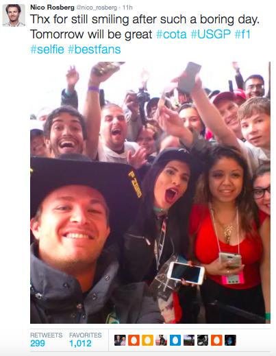 Nico Rosberg was pleased to meet his American fans
