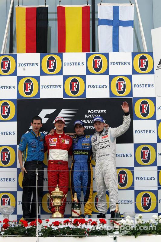 Formula 1 Grand Prix, England, Sunday Podium